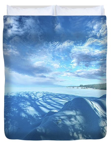 Duvet Cover featuring the photograph Far And Away by Phil Koch