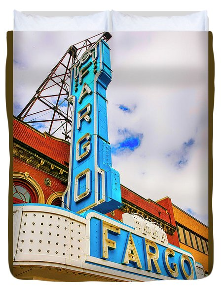 Fargo Theater Sign Duvet Cover