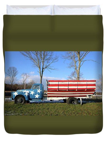Farm Truck Wading River New York Duvet Cover