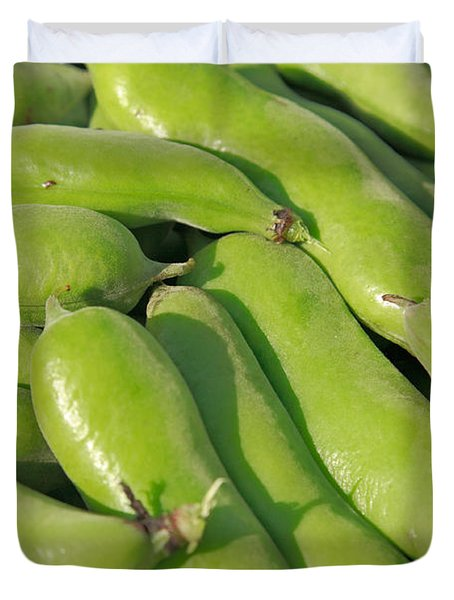 Fava Bean Pods Duvet Cover