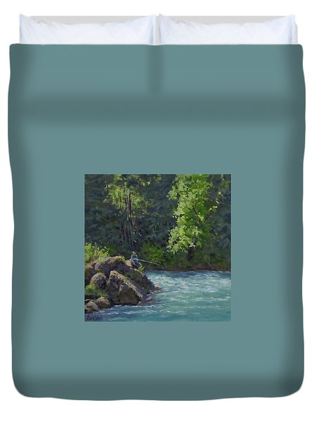 Favorite Spot Duvet Cover by Karen Ilari