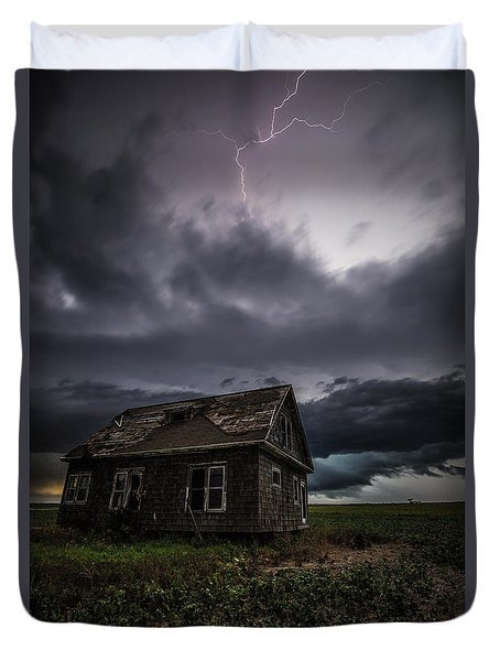 Duvet Cover featuring the photograph Fear by Aaron J Groen