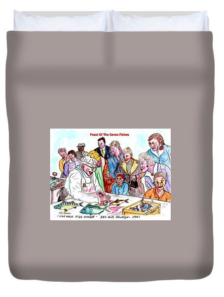 Feast Of The Seven Fishes Duvet Cover by Philip Bracco