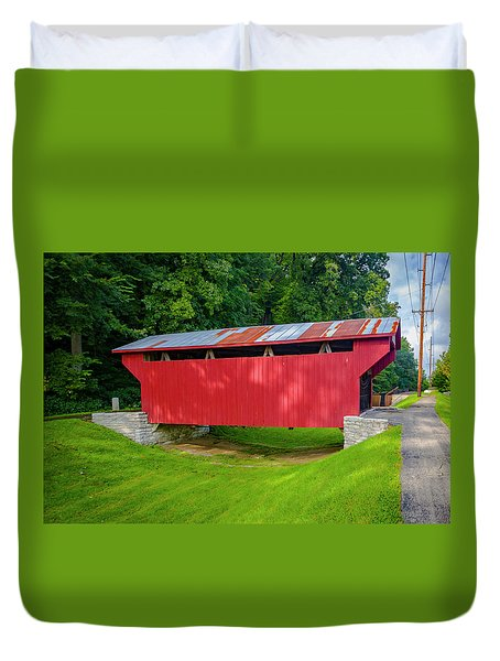 Feedwire Covered Bridge - Carillon Park Dayton Ohio Duvet Cover