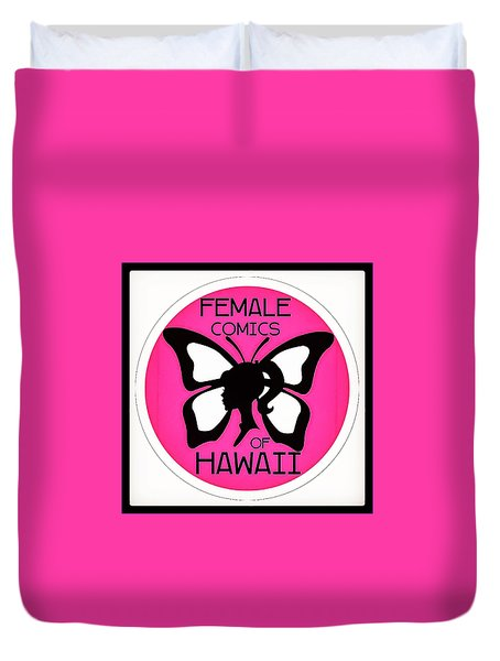 Female Comics Of Hawaii Duvet Cover by Erika Swartzkopf