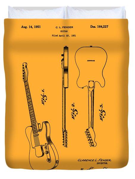 Fender 1951 Electric Guitar Patent Art - B  Duvet Cover