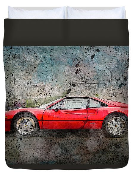 Duvet Cover featuring the photograph Ferrari 308 by Joel Witmeyer
