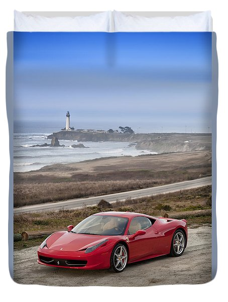 Duvet Cover featuring the photograph Ferrari 458 Italia by ItzKirb Photography