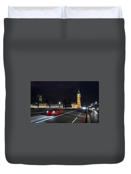 Ferrari F40 London Duvet Cover