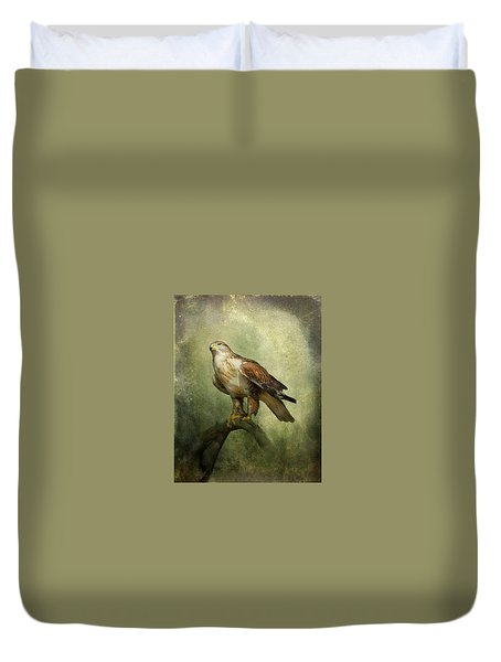 Duvet Cover featuring the photograph Ferruginous Hawk by Barbara Manis
