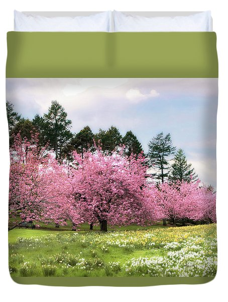 Field Of Dreams Duvet Cover by Jessica Jenney