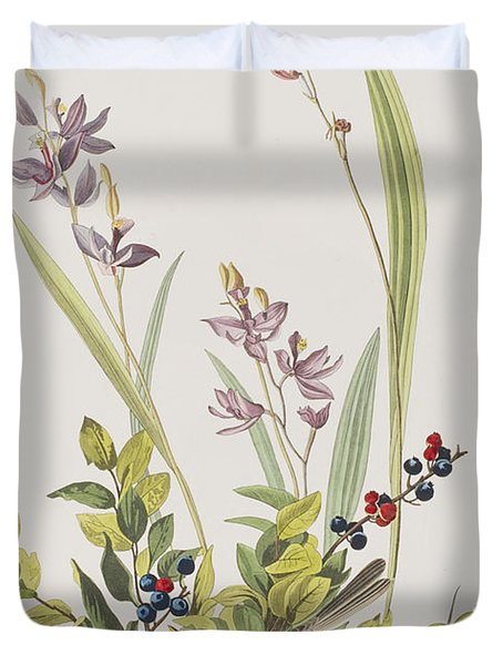 Field Sparrow Duvet Cover by John James Audubon