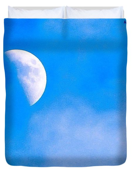 Finally Some #bluesky And The #moon Duvet Cover