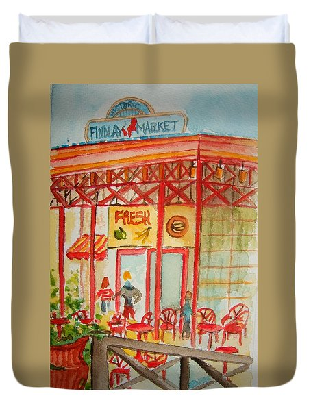 Findlay Market Duvet Cover