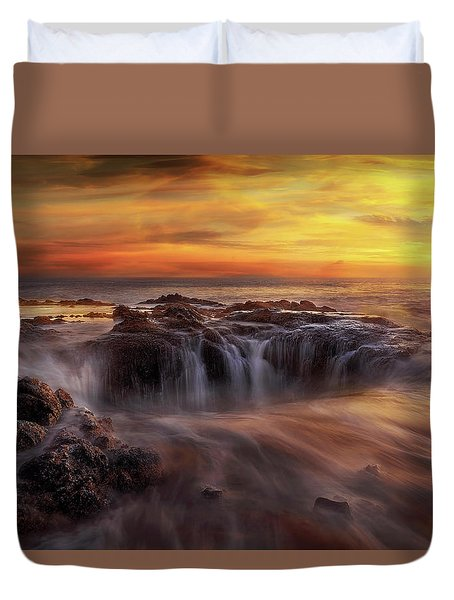 Fire And Water Duvet Cover by David Gn