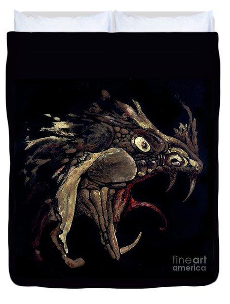 Fire Dragon Duvet Cover by Liz Molnar