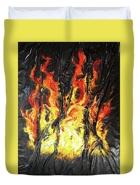 Fire Too Duvet Cover by Angela Stout