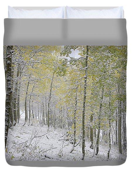 First Snow Fall Duvet Cover
