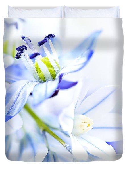 First Spring Flowers Duvet Cover by Elena Elisseeva