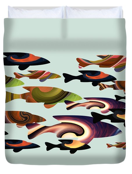 Fish Of A Different Color Duvet Cover
