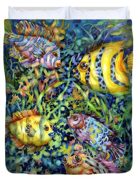 Fish Tales Iv Duvet Cover