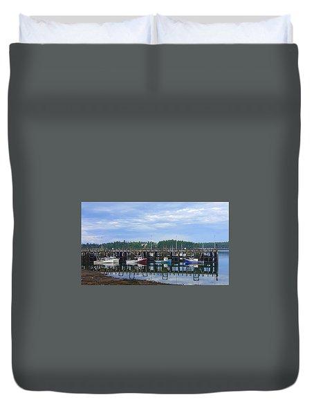 Fishing Boats - Beaver Harbour Duvet Cover