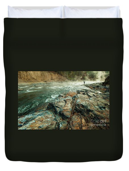Duvet Cover featuring the photograph Fishing Day by Iris Greenwell