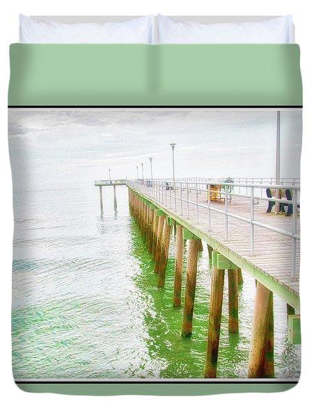 Fishing Pier, Margate, New Jersey Duvet Cover