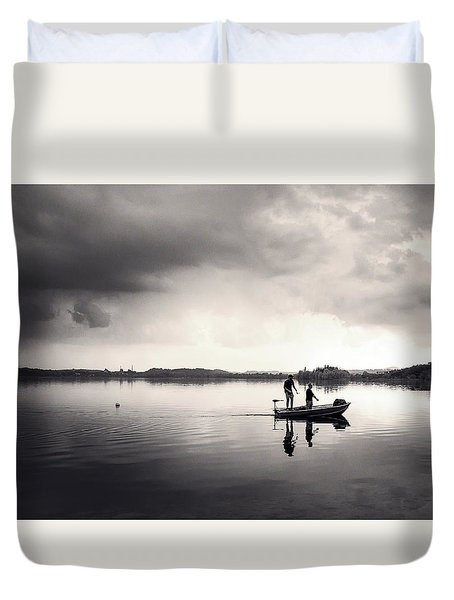 Fishing Time Duvet Cover