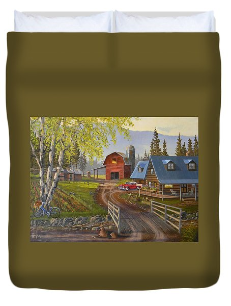 Five Oclock Coffee Duvet Cover