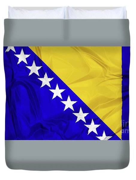 Flag Of Bosnia Duvet Cover