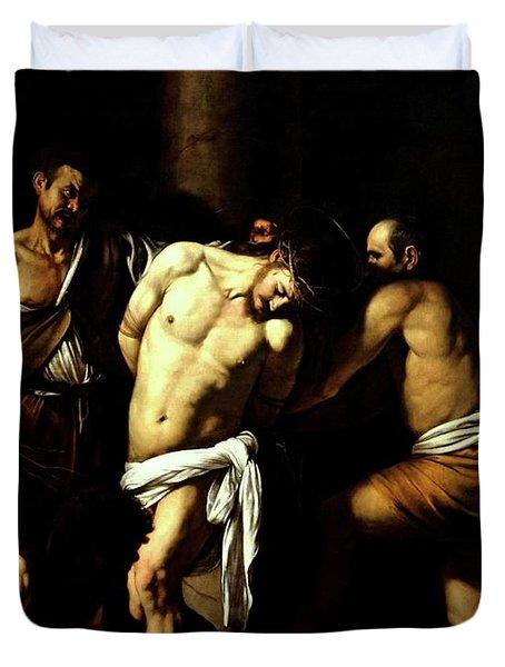 Flagellation Of Christ Duvet Cover