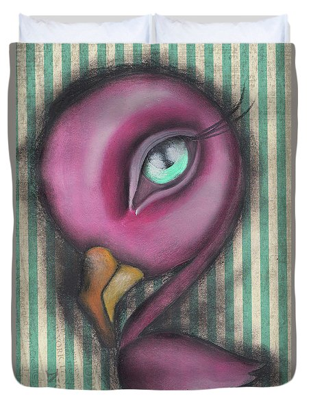 Flamingo Duvet Cover by Abril Andrade Griffith