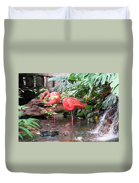 Flamingos Duvet Cover