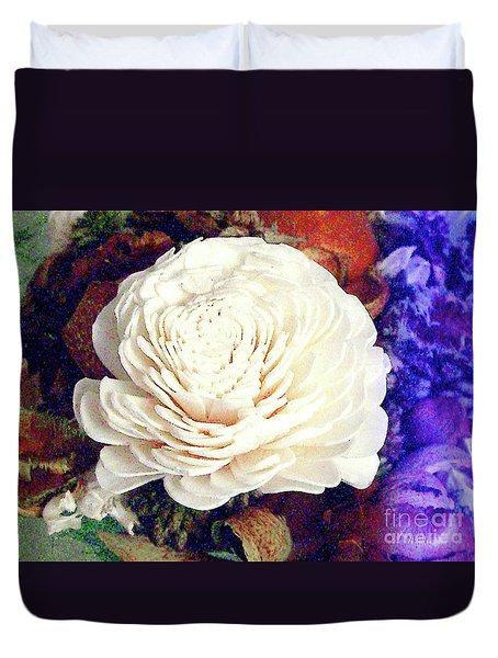 Duvet Cover featuring the photograph Floral Potpourri by Merton Allen