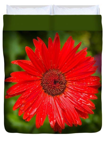 floral Red Duvet Cover