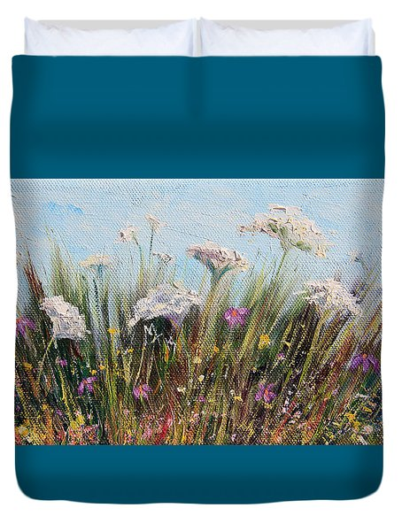 Flower Dance Duvet Cover by Meaghan Troup