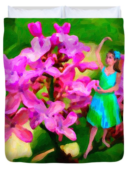 Flower Fairy  Duvet Cover