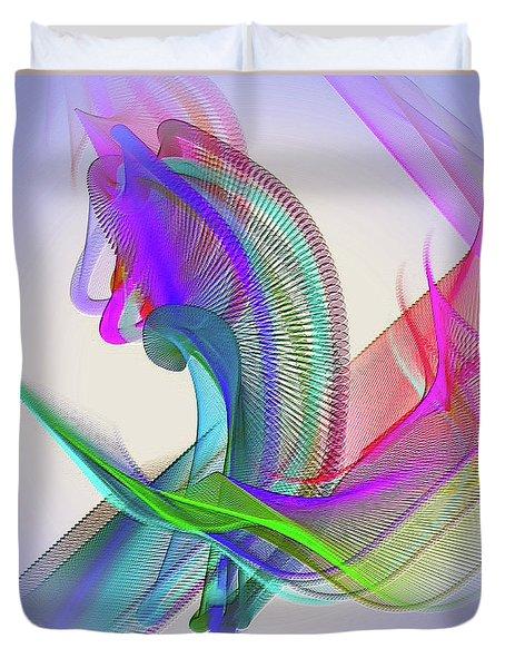 Duvet Cover featuring the digital art Flower Vase by Visual Artist Frank Bonilla
