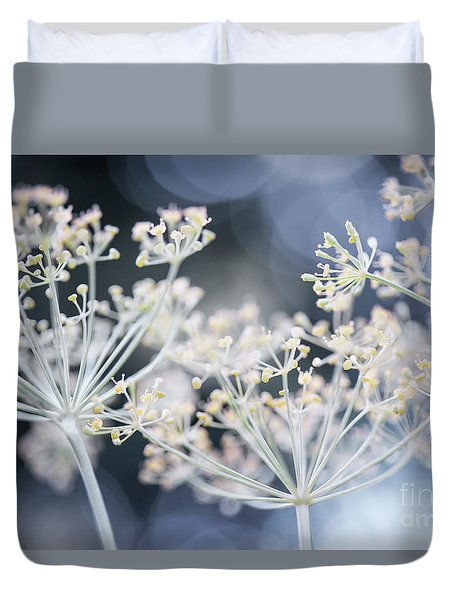 Duvet Cover featuring the photograph Flowering Dill by Elena Elisseeva