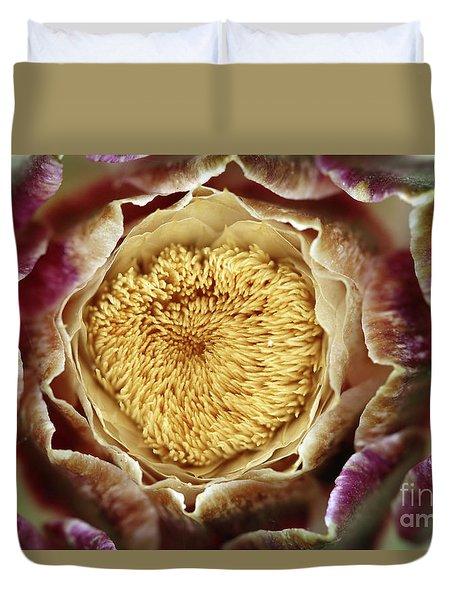 Flowering Houseleek Duvet Cover by Michal Boubin