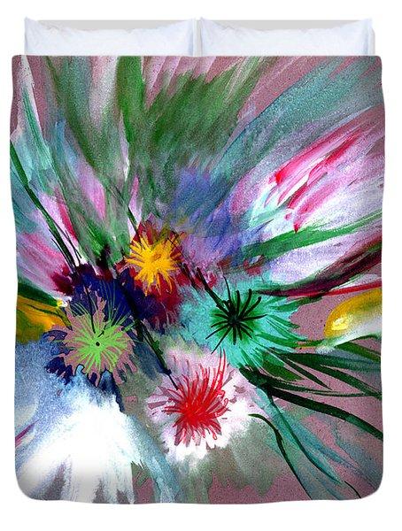 Flowers Duvet Cover by Anil Nene