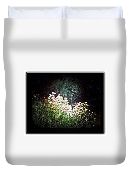 Flowers At Night Duvet Cover