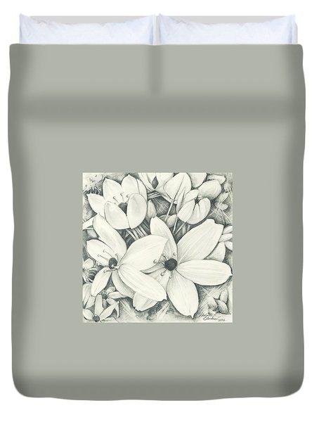 Flowers Pencil Duvet Cover