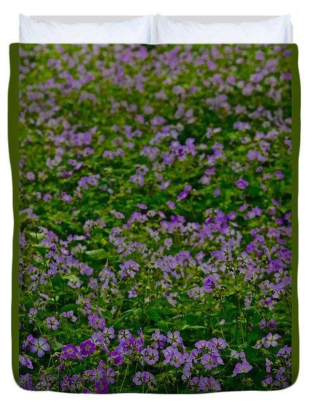 Flowers Duvet Cover by Tim Good