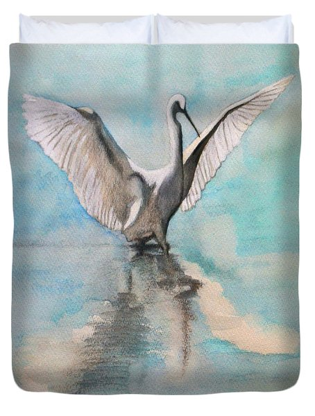 Fly To Western Heaven Duvet Cover