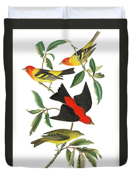 Duvet Cover featuring the photograph Flying Away by Munir Alawi