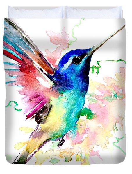 Flying Hummingbird Duvet Cover