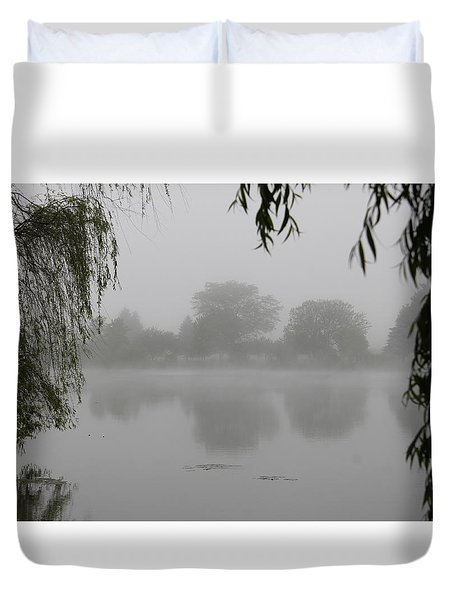 Fog On The Pond Duvet Cover