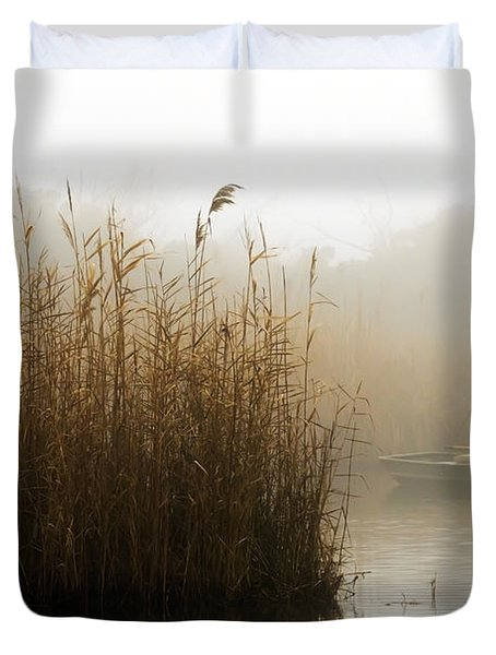 Foggy Fishing Duvet Cover